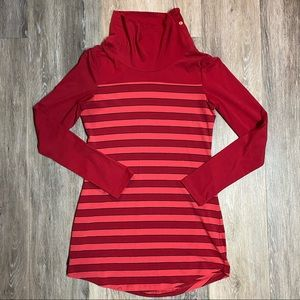 Lolë Tunic Length Stripped Sweater